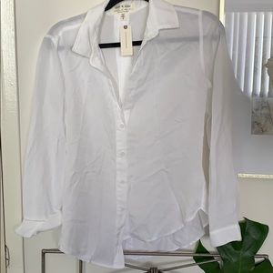 Anthropology White Button Up